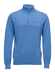 LT. WEIGHT COTTON ZIP - OCEAN BLUE MELANGE