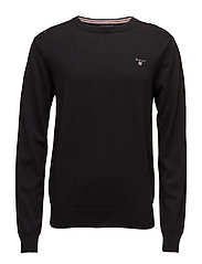 COTTON WOOL CREW - BLACK