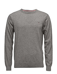 COTTON WOOL CREW - DARK GREY MELANGE