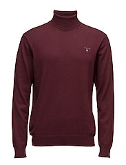 COTTON WOOL TURTLE NECK - DK. BURGUNDY MEL