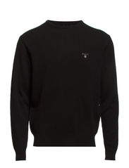 SOLID LAMBSWOOL CREW - BLACK