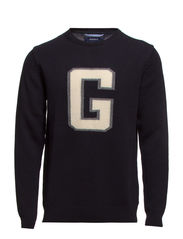 CRISPY COTTON G-CREW - NAVY