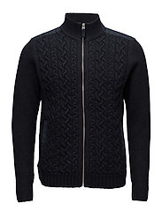 O2. ACTIVE CABLE JACKET - NAVY