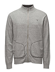 O. COTTON MELANGE FULLZIP - LIGHT GREY MELANGE
