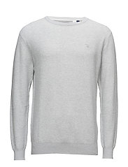 O. TWO TONE STRUCTURE CREW - LIGHT GREY MELANGE