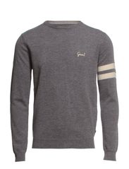 E. LAMBSWOOL UNIVERSITY CREW - DARK GREY MELANGE
