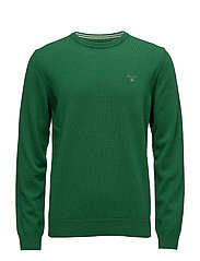 SUPER FINE LAMBSWOOL CREW - KELLY GREEN MEL