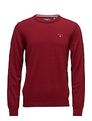 SUPER FINE LAMBSWOOL CREW - MAHOGNY RED