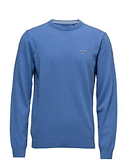 SUPER FINE LAMBSWOOL CREW - PALACE BLUE