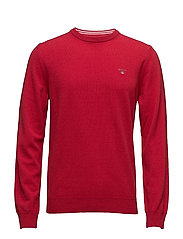 SUPER FINE LAMBSWOOL CREW - RED MELANGE