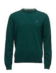 SUPER FINE LAMBSWOOL CREW - TARTAN GREEN