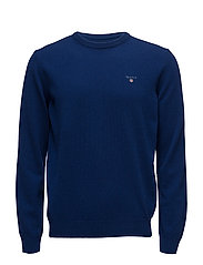 SUPER FINE LAMBSWOOL CREW - YALE BLUE