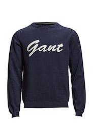 L. COTTON GANT CREW - CLASSIC BLUE