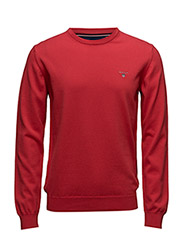STRETCH COTTON CREW - BRIGHT RED