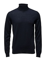 FINE MERINO WOOL TURTLE NECK - MARINE