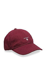 GANT TWILL CAP - PURPLE WINE