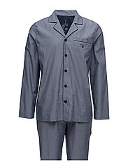 PAJAMA SET OXFORD - HURRICANE BLUE