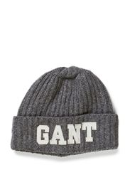 GANT HAT - GRAPHITE MELANGE