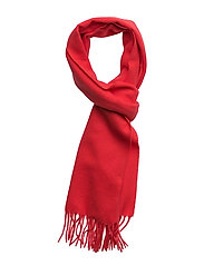 SOLID LAMBSWOOL SCARF - BRIGHT RED