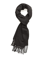 SOLID LAMBSWOOL SCARF - CHARCOAL MELANGE