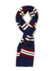 IVY STRIPED SCARF - CLASSIC BLUE