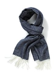 NEW HERRINGBONE SCARF - INK BLUE