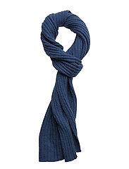 COTTON/WOOL SCARF - HURRICANE BLUE