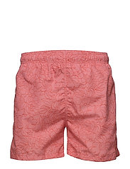 FULL BLOOM OUTLINE SWIM SHORTS C.F. - STRONG CORAL