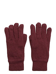 COTTON/WOOL GLOVES - PURPLE WINE