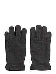O. MELTON GLOVES - CHARCOAL MELANGE