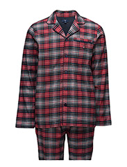 PAJAMA SET FLANNEL BLEECKER CHECK - RED