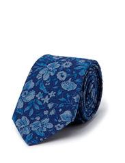 INDIGO FLOWER TIE - INDIGO BLUE