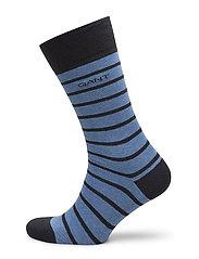 O. BRETON STRIPE SOCKS - NIGHTFALL BLUE