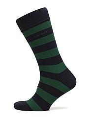 O1. BARSTRIPE SOCKS - IVY GREEN