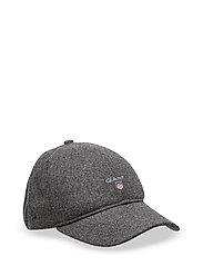 O1. GANT MELTON CAP - CHARCOAL MELANGE