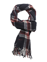 OP1. CHECKED SCARF - CLASSIC BLUE