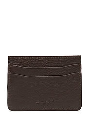 O1. LEATHER CARDHOLDER - DARK BROWN