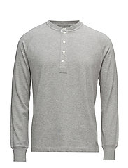 G2. HENLEY TOP - GREY MELANGE