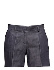 G3. TAILORED DENIM SHORTS - DARK BLUE