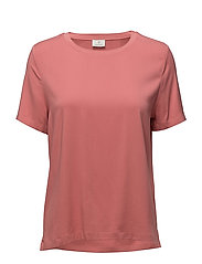 G2. FEATHERWEIGHT TWILL TEE - FADED ROSE