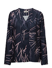 G. PRINTED PENCIL POP OVER BLOUSE