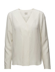 G. SILK POP OVER BLOUSE - OFFWHITE