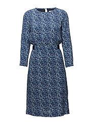 G2. PRINTED ARGYLE  DRESS - CLASSIC BLUE