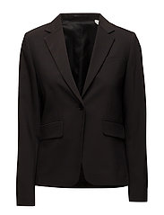 G1. BI-STRETCH WOOL BLAZER - BLACK