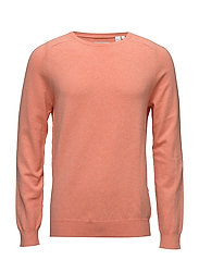 G. COTTON CASHMERE CREW - FADED CORAL