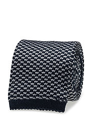 G. KNITTED MINI DOT TIE - MARINE