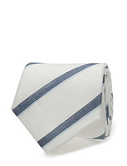G3. DÉLAVÉ REGIMENTAL STRIPE TIE - PERSIAN BLUE