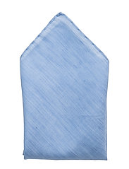 G1.COTTON LINEN FLAME POCKET SQUARE - KENTUCKY BLUE