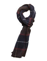 G2. CHECKED SCARF - MARINE
