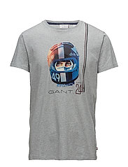 LM. DRIVER SS T-SHIRT - LIGHT GREY MELANGE